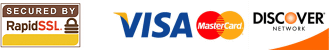 SSL Secured - We accept Visa, Mastercard and Discover credit cards